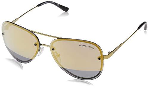Michael Kors Damen La Jolla 11681Z 59 Sonnenbrille, Gold (Pale Gold/Tone/Blockgoldmirror)