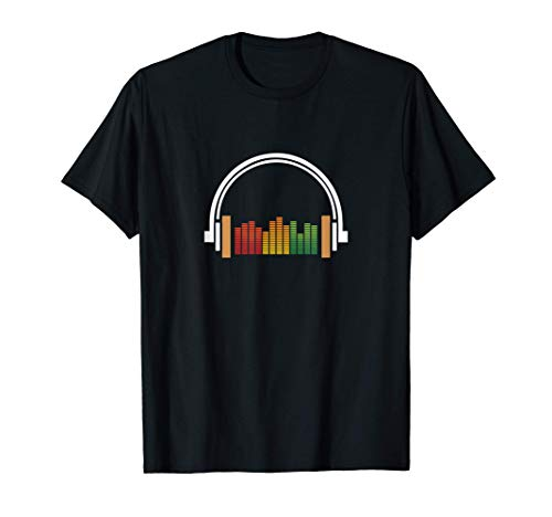 Rasta Headphones and Music Wave Tee for Music EDM Lovers T-Shirt