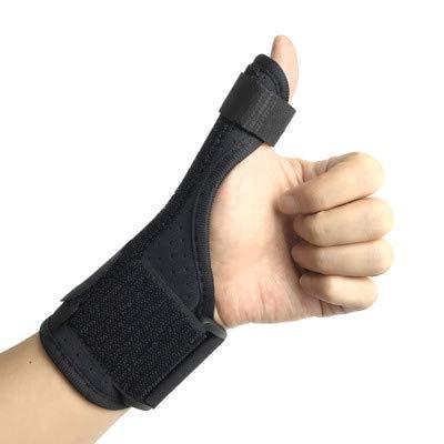 JHKGY Thumb Valgus Splint - ondersteuning van pijn, spuit, stam, artritis, carpale tunnel en trekker duim houder - polsband - links of rechts hand (zwart)