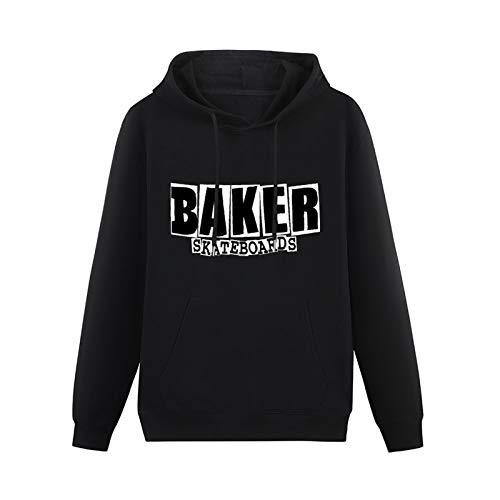 LongSleeveHoodedSweatshirt 100& Cotton New Baker Skateboards Logo Cotton Blend HoodyBlackS