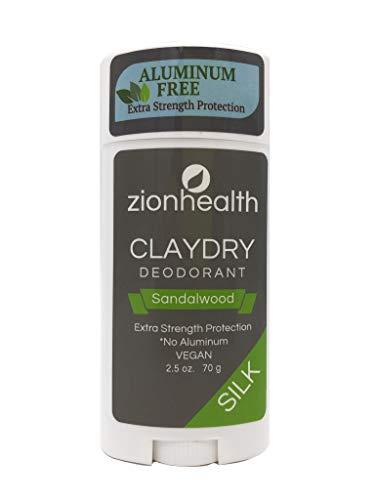 Zion Health Clay Dry Silk Deodorant Stick 2.5 oz Sandalwood