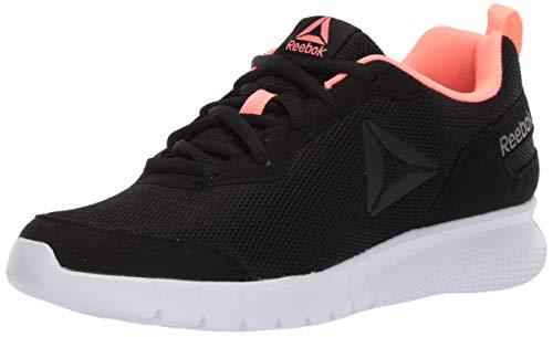 Reebok Women's Swiftway Running Shoe, Black/White/Digital Pink, 6.5 M US