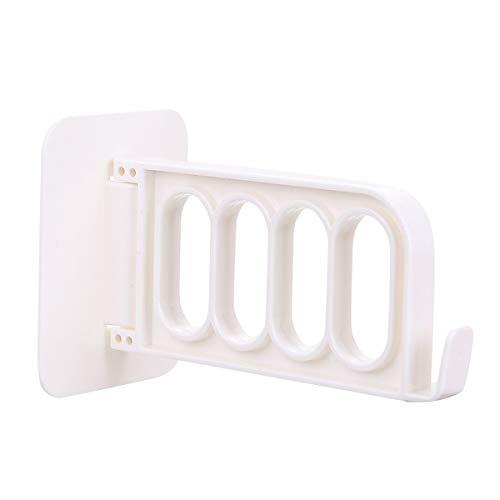 AIUIN Wand-Paneel Klapphaken Garderoben-Haken klappbar Starke und Nahtlose Paste Kleiderbügel-Halter für Schrank & Möbel (Weiß)