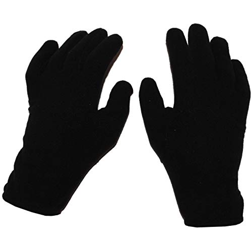 alles-meine.de GmbH Fingerhandschuhe Fleece schwarz / Unterziehhandschuh - Innenhandschuh Fleecehandschuhe - Größe Erwachsene 8