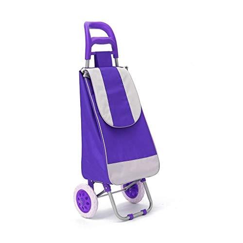 45L Opvouwbare Winkelwagen Tas Op Wielen Duw Tote Cart Carts Mand Bagage Wielen Oxford Stof Floding