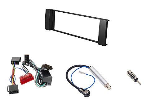 Audioproject A216 - Autoradio Einbau-Set Audi A3 8L - A6 C5 4B - Radioblende Radioadapter 2 x Antennenadapter DIN ISO Einbaurahmen schwarz