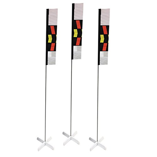 Premier RC 10 in. Mini Slalom FPV Racing Air Gates with 24 in. Poles (Set of 3)