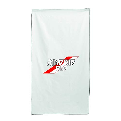 Tipolitografia Ghisleri Handtuch, Strandtuch, Handtuch mit schräger Flagge Madrid 70 x 140 cm