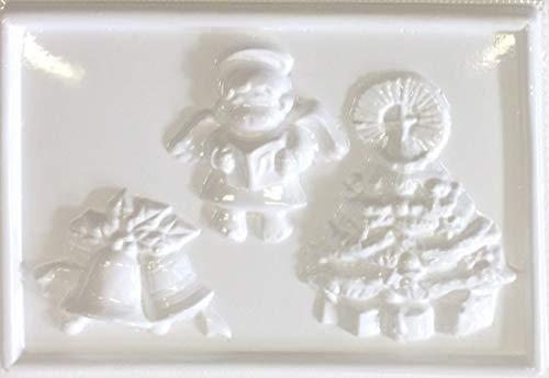 hobby e Blu Stampo PVC Natale 13x19 cm, Perfetto per colate in Gesso o Marmo per soggetti Natalizi, Campana, Angelo e Albero
