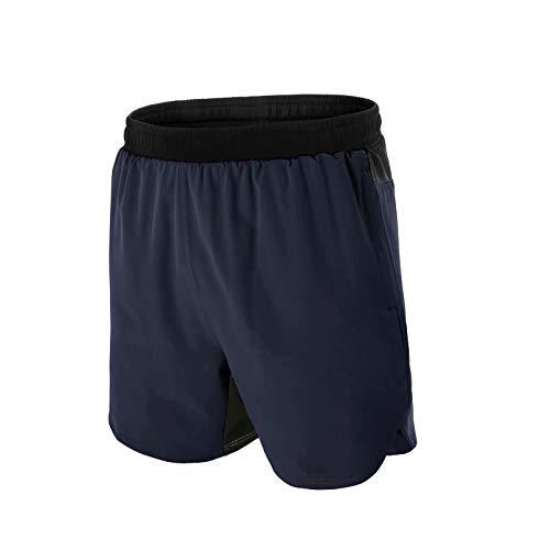 Mabove - Pantalones cortos de deporte para hombre, con bolsillos con cremallera,...