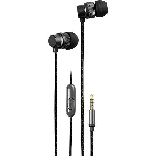 Vivanco 37619 Kopfhörer mit Kabel und In-Ear-Mikrofon, Lautstärkeregler, inkl. Ohrpolster