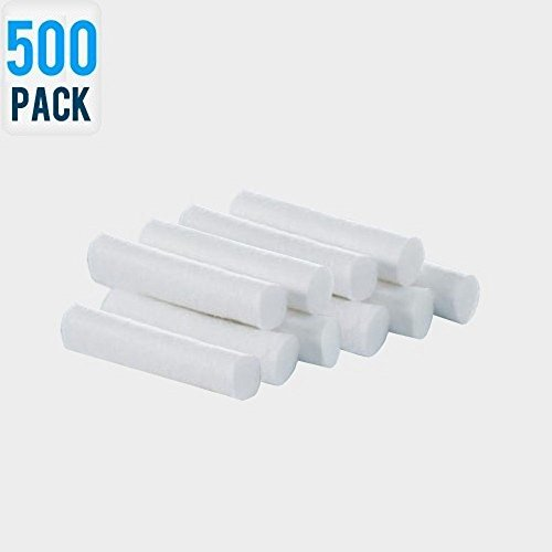 Dental Cotton Rolls - Selected Dentist Cotton (500 Pieces) by GlobalCareMarket