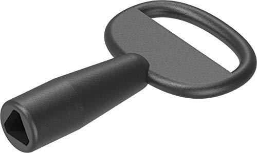 6,5mm Dreikantschlüssel aus Gd-Zn in schwarz 1C04-21