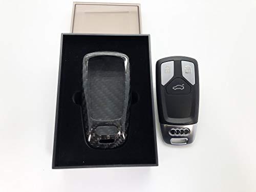 NORDECCO - Custodia Protettiva per Chiave Elettronica a 3 Pulsanti, in Vera Fibra di Carbonio, Compatibile con Audi A1 TT SLINE 2017-19 A1 A2 A3 A4 A5 Q2 Q3 Q4 Q5 Q6 Q7 SQ7 Q8 RS TTS