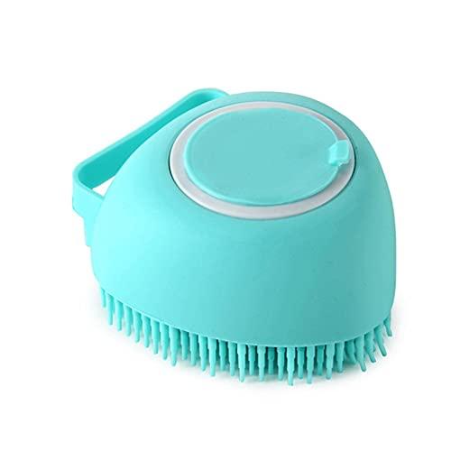 N\C Cepillo de aseo de mascotas 2 en uno Cepillo de masaje de baño Cepillo de masaje dispensador de champú multifuncional champú cepillo de baño exfoliante artefacto cepillo de baño
