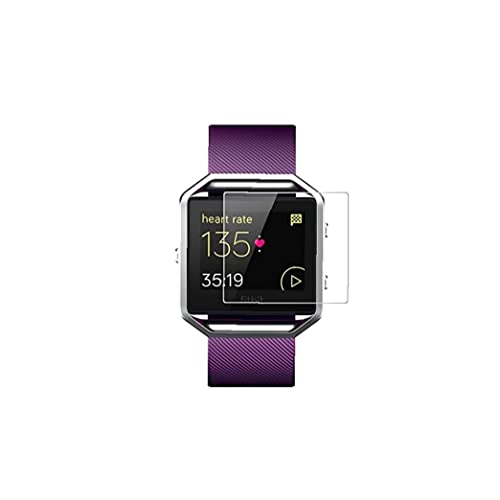 Protezione dello schermo per Fitbit Blaze + 2 PCS HD Guarda schermo proteggi schermo ultra chiaro Cassa protettiva in vetro temperato per Blaze Smart Watch