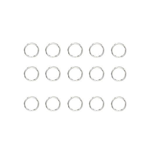 Healifty - Conectores para anillos de salto abiertos, 200 unidades, 10 x 10 mm