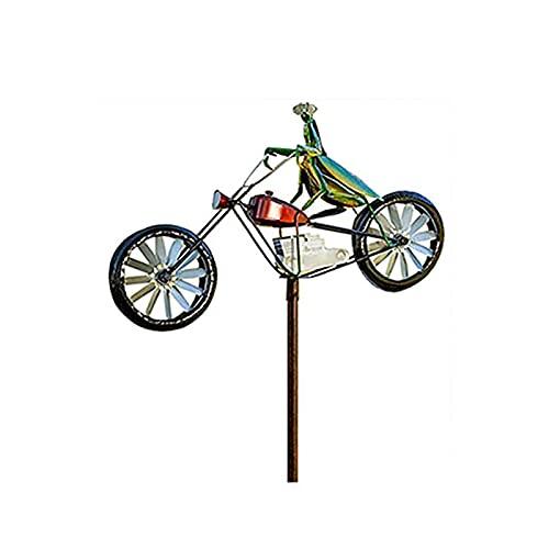 Spinner De Viento De Metal De Bicicleta Vintage, Hilandero De Decoración De Animales De Estaca De Jardín con Poste De Pie, Molino De Viento De Bicicleta Mental, para Césped De Jardín,B
