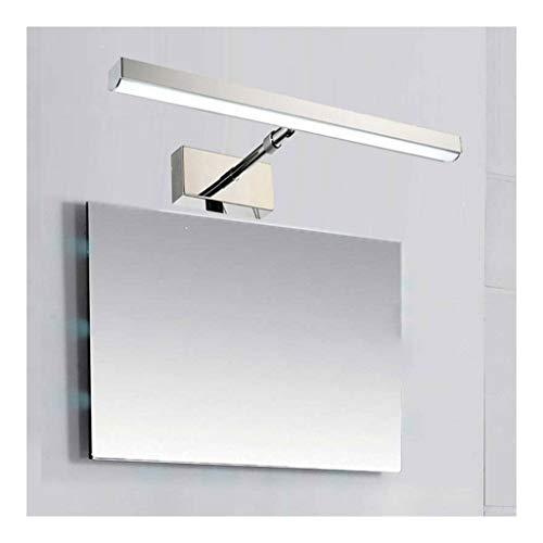 MJJ- Espejo de Baño con Iluminación LED Iluminación de la lámpara LED Simple Home retráctil delantera de espejo luz del dormitorio cuarto de baño salón del hotel Museo prueba de agua anti-vaho de maqu