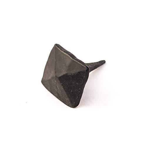 Antikas   Geschmiedete Nägel   Nagel aus Schmiedeeisen   Ziernagel   viereckiger Kopf   25 x 25 x 8mm   Eisennagel 
