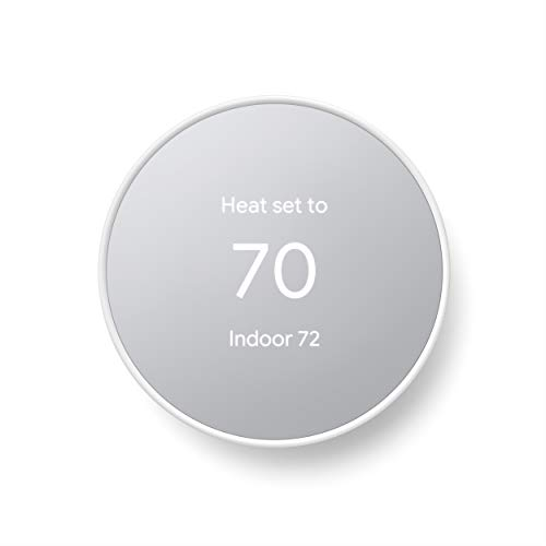 Google Nest Thermostat - Smart Thermostat for Home - Programmable Wifi Thermostat - Snow