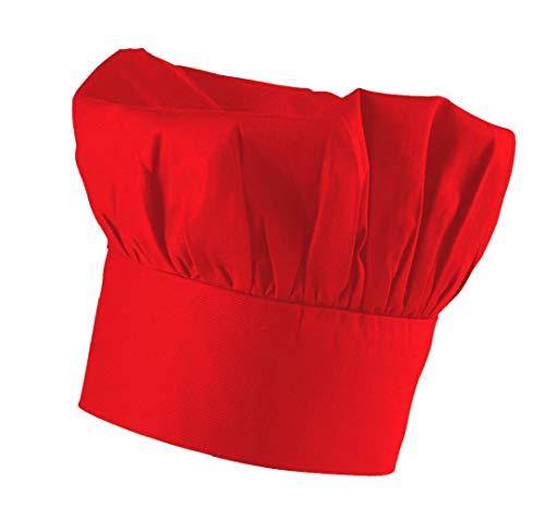 Rote Kochmütze verstellbar mit Klettverschluss
