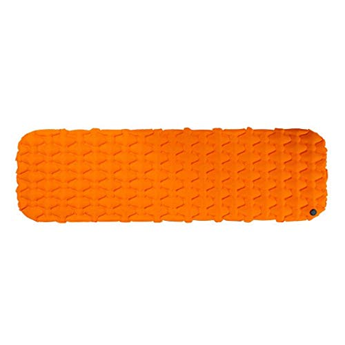 Peng sounded Comfort Isomatte Camping-Zelt-Matten Einpersonen-Thick Feuchtigkeitsbeständig Ultraleicht Bambus Aufblasbare Luftmatratzen (Farbe : Orange, Größe : 59x195x6.5cm)