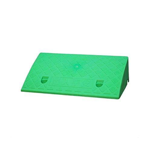 GPWDSN Rubber Curb hellingen serviceoprijplaat, kunststof uphill pad anti-slip pad draagbare driehoek buiten stap voertuig hellingen huishoudrolstoelsteun (grootte: 50 * 27 * 11cm)