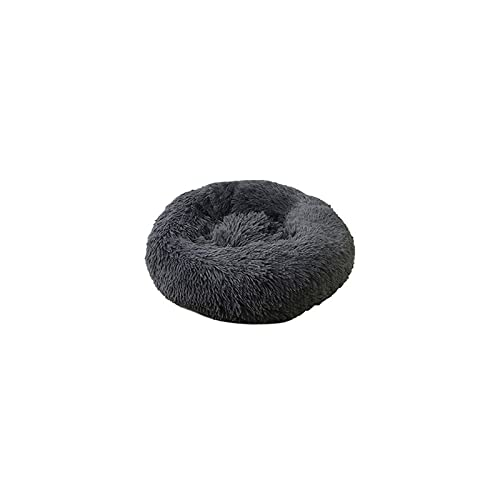 QWERTY Pet Bed for Cats and Dogs, Round Plush Bed, Dog Sofa Fluffy hundebett(Color:A,Size:120CM)