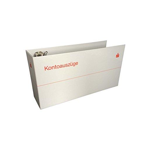 1 x Bankordner Kontoauszugsordner weiß mit Sparkassen Logo, Ordner für Kontoauszüge