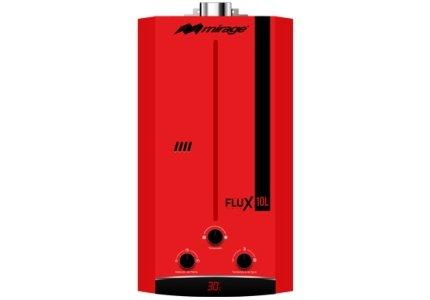 Calentador de agua instantáneo para 2 servicios 10 litros por minuto a Gas Natural Flux10L, color rojo