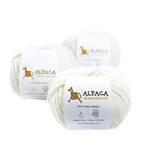 100% Baby Alpaca Yarn Wool Set of 3…