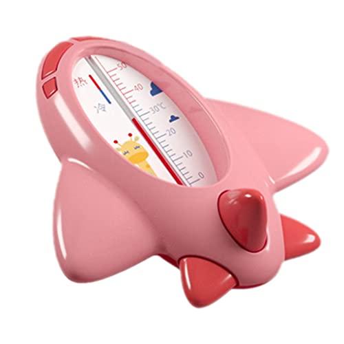 SUOYATE Termómetro de baño de bebé con indicador frío y caliente 0-50 ℃ Bebe lindo avión termómetro niños baño agua sensor térmico