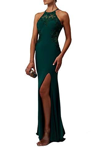 Mascara Marine Blau Mc112939 Schlüsselloch Spitze Top Kleid 38