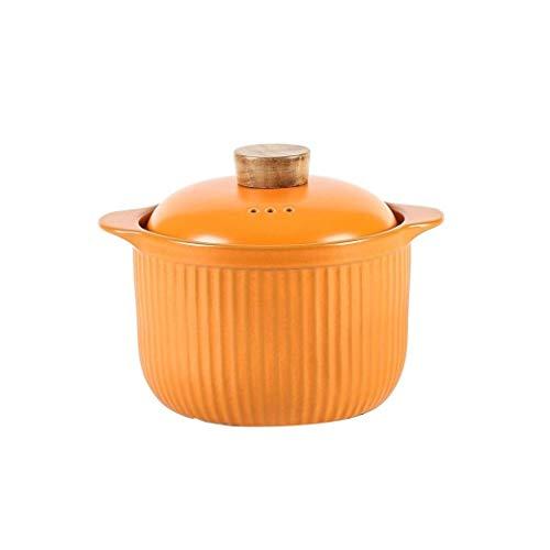 YLJYJ Olla de cerámica para Sopa con Tapa Olla de Barro Olla de Barro Resistente a Altas temperaturas de Gran Capacidad (Exterior)