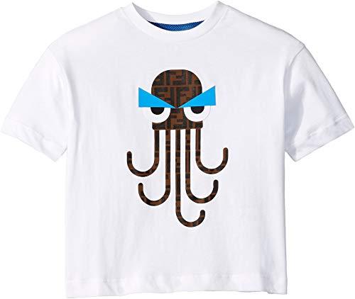 Fendi Kids Unisex Octopus Tee (Toddler/Little Kids) White 6 Years