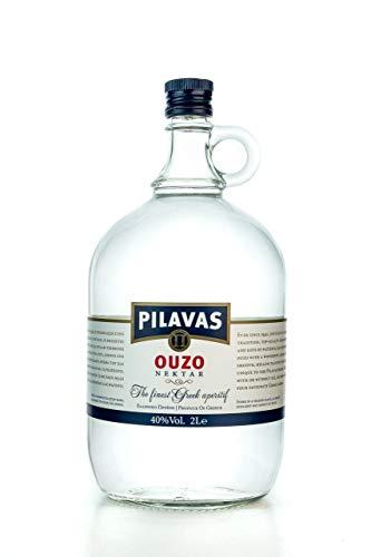 Ouzo Pilavas Nektar 40% 2000ml Geschenk Flasche Traditions Anis Likör Schnaps aus Griechenland 2L Karaffe