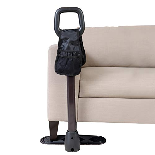 Stander CouchCane, Standing Mobility Aid for Disabled and Elderly, Chair Assist Lift Aid with Ergonomic Safety Handle and Organizer Pouch