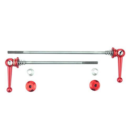 LeKu Bike Skewer-2pcs Juego de Pinchos de liberación rápida de aleación Ultraligera Piezas de Repuesto para Bicicletas Accesorio(Rojo)