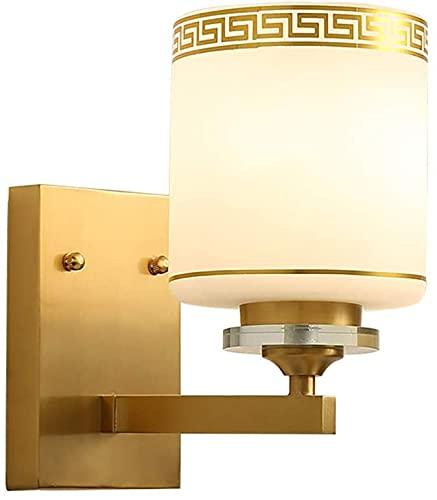 csd Lámpara de pared de cobre moderna, luces de vidrio de vidrio de latón creativo Consultores de cristal de cristal de chandelier E27 sala de estar, hotel, cafés, restaurantes, pasillo, engra