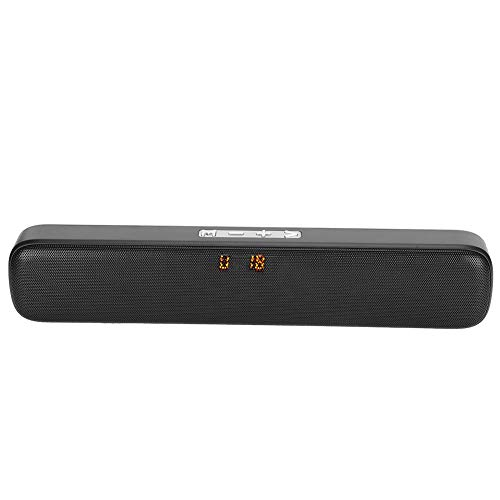Bindpo Bluetooth-Lautsprecher, drahtlose Bildschirmanzeige Musik-Player Bluetooth 5.0 Audio-Lautsprecher-Support-Steckkarte FM-Radio für TV, Computer, Laptop