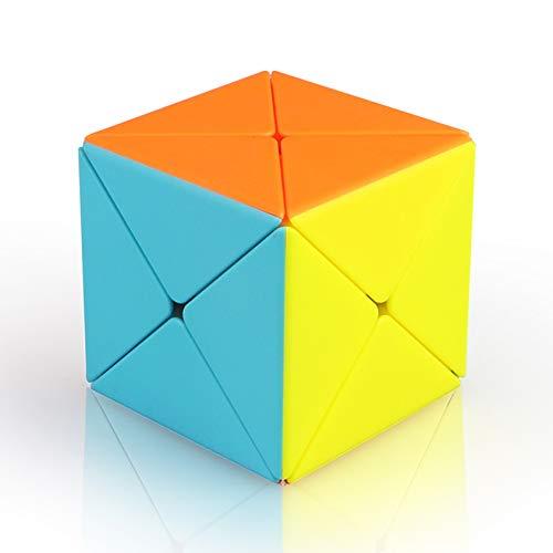 WJHH Cyclone Boys sin Etiqueta Skewb Magnetic Skewb Puzzle Irregular Magic Twisty Toy