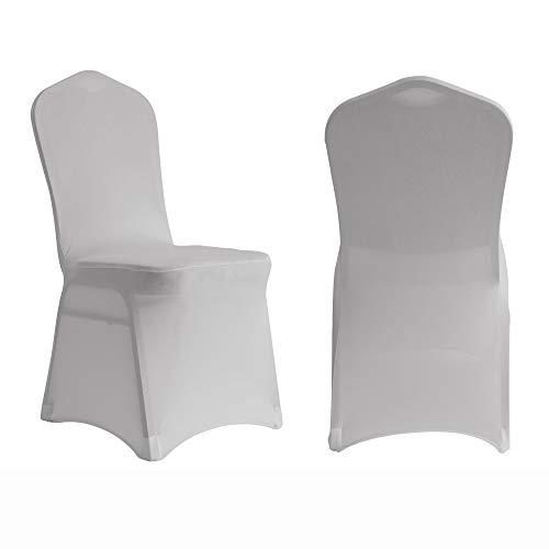 Manmengji 10 Stück Stuhlhussen Spandex Lycra Stretch Schonbezug, Anzug für Hochzeitsfeier Bankett, Elastischer Esszimmerstuhl Protector