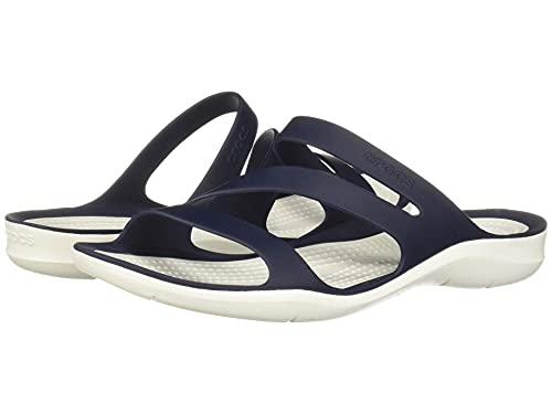 Crocs Swiftwater Sandal Mujer Sandal, Azul (Navy/White), 37/38 EU