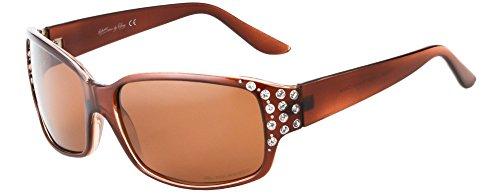 Hornz HZ Serie Diamante – Gafas de sol polarizadas para mujer Marco de ámbar de miel - Lente ámbar