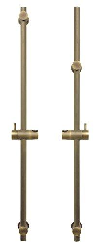 Barra de ducha de 80 cm, variable para agujeros existentes, barra de ducha de latón antiguo