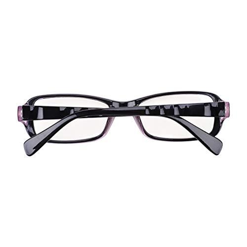 Klassische Nerdbrille ohne Stärke Transparente Gläser Retro Brille Computer Lesebrillen Sonnenbrille Unisex für Frauen und Männer, UV-Schutz, Anti-Strahlung