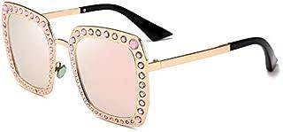 Sunglasses Fashion Accessories Diamond Polarized Sunglasses Female Outdoor Travel Beach UV Protection (Color : Pink)