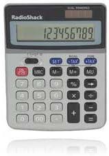 Radio Shack 12-Digit Dual-Power Calculator with Tax Function