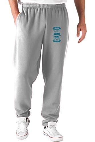 T-Shirtshock Pantalones Deportivos Gris CIT0254 Work Hard Play Hard Think Happy